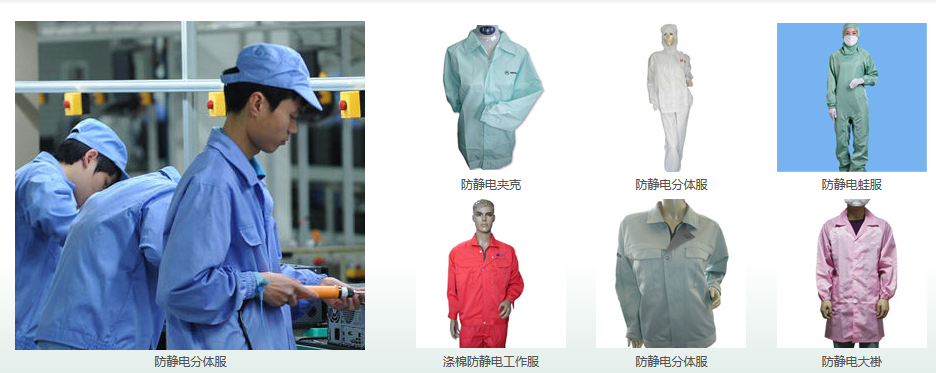 Kinds of esd clothes